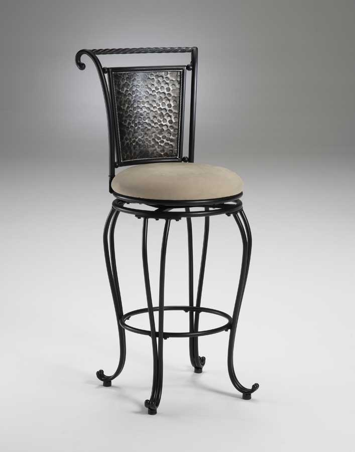 Hillsdale Milan Metal Swivel Counter Stool Pewter 4527