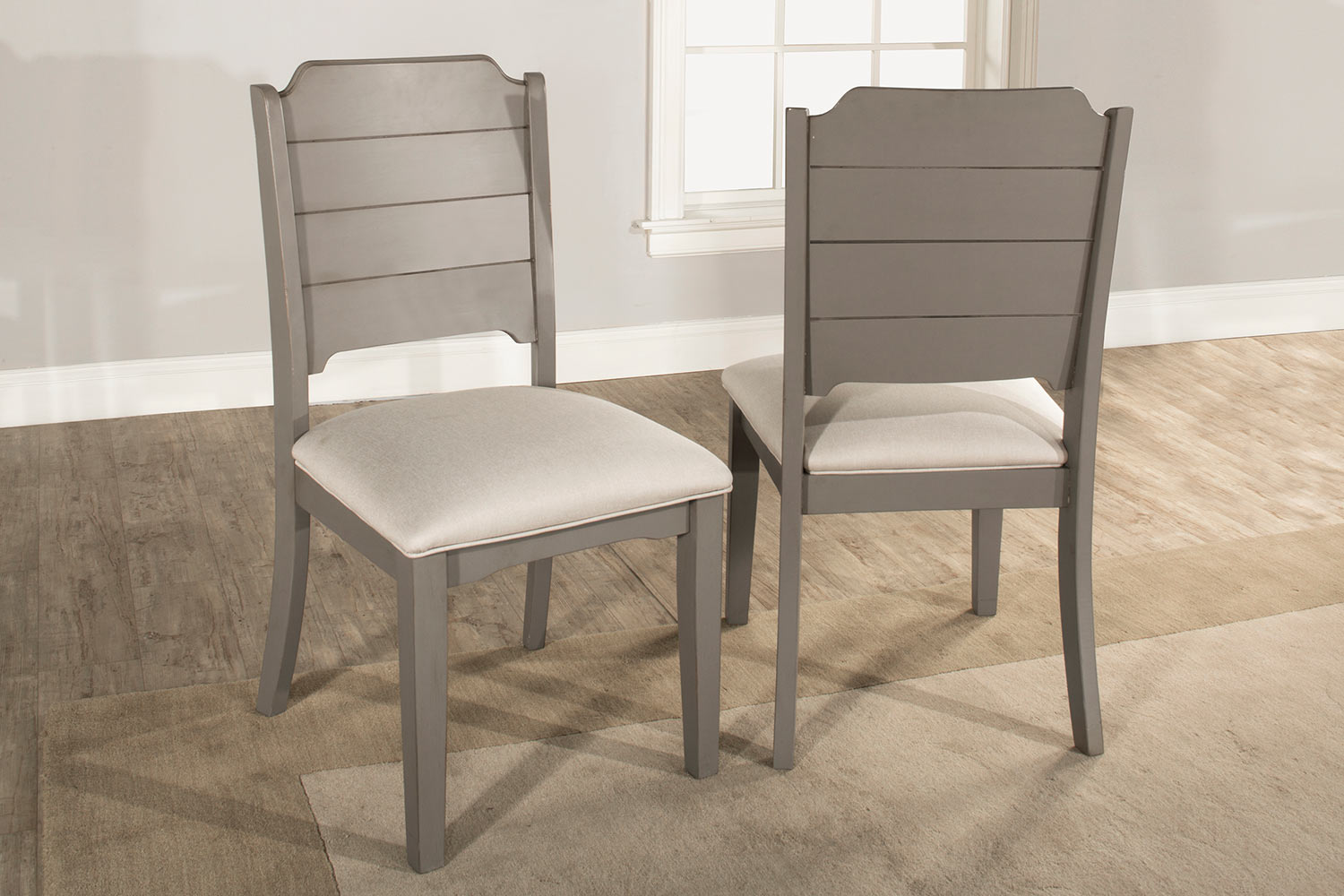 Hillsdale Clarion Dining Chair - Distressed Gray - Fog Fabric