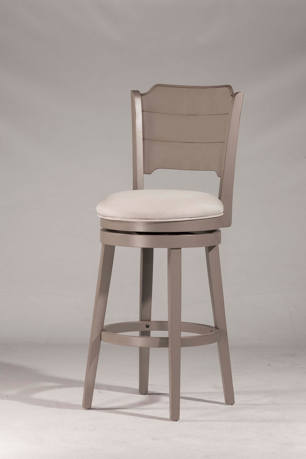 Hillsdale Clarion Swivel Bar Stool - Gray - Fog Fabric