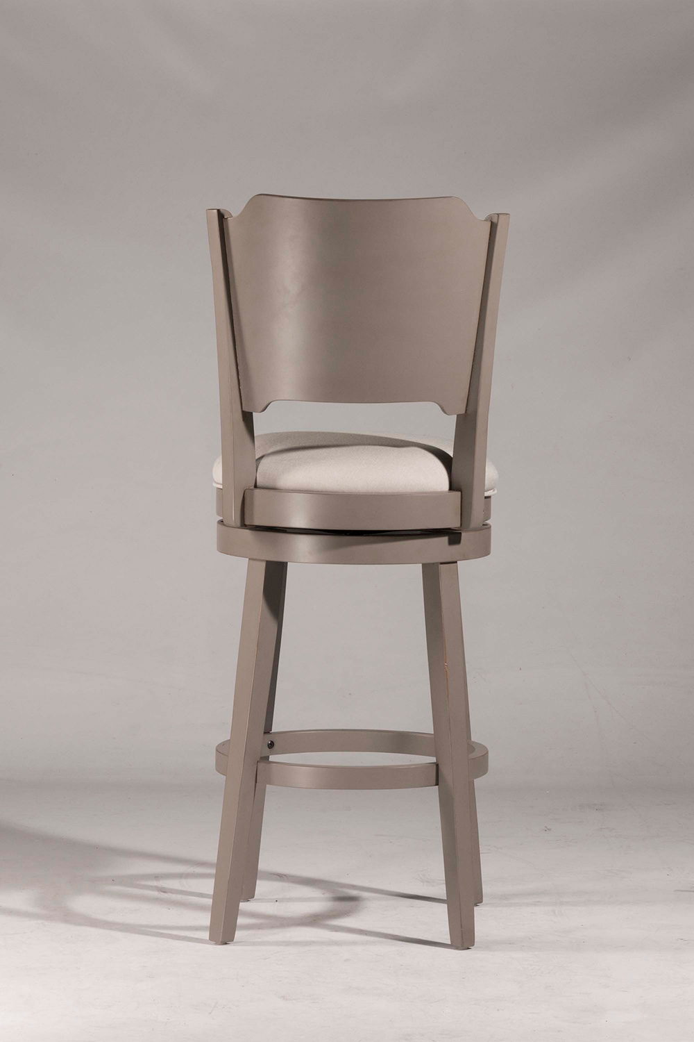 Hillsdale Clarion Swivel Bar Stool Gray Fog Fabric