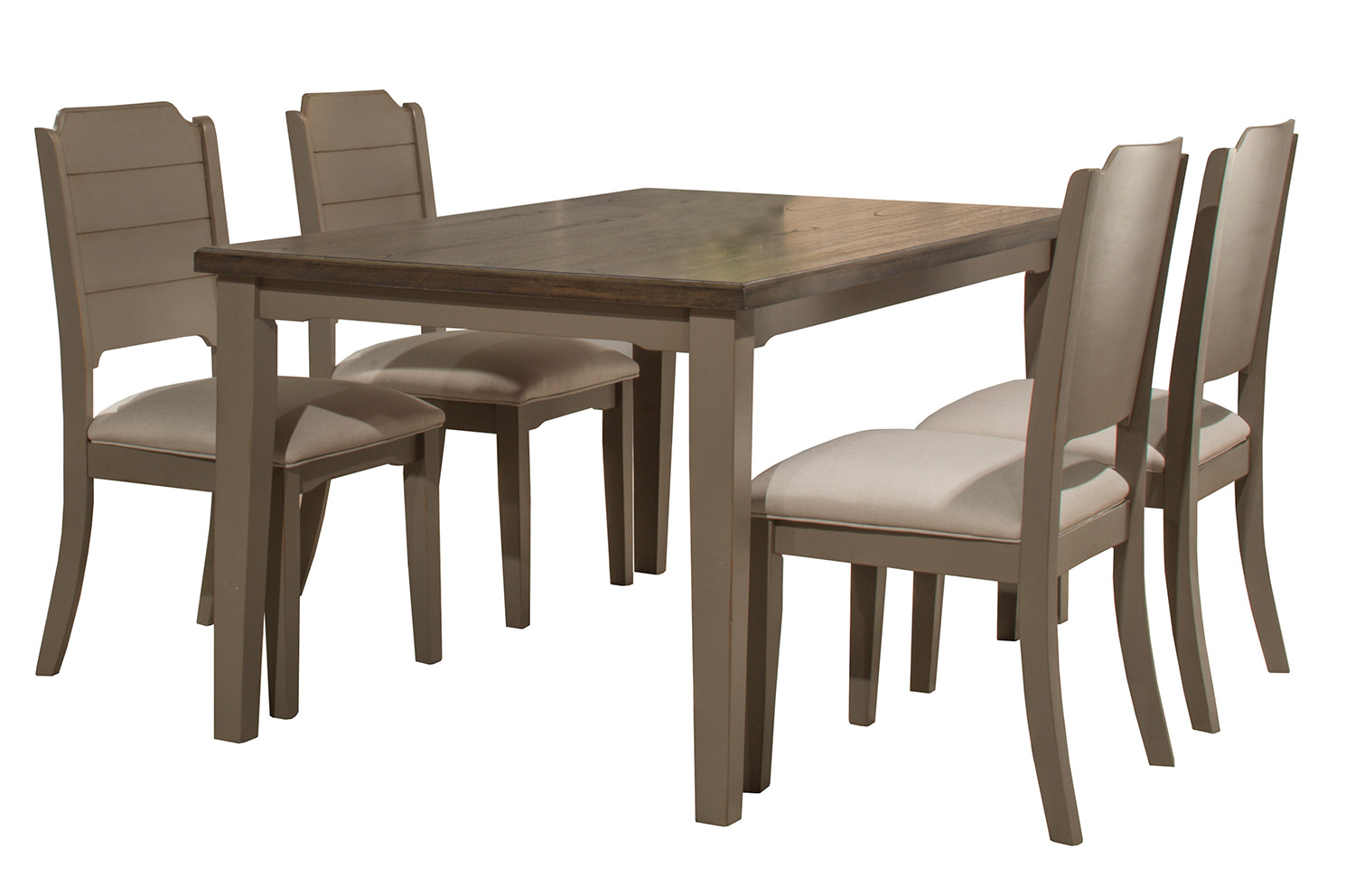 Hillsdale Clarion 5-Piece Rectangle Dining Set - Gray - Fog Fabric