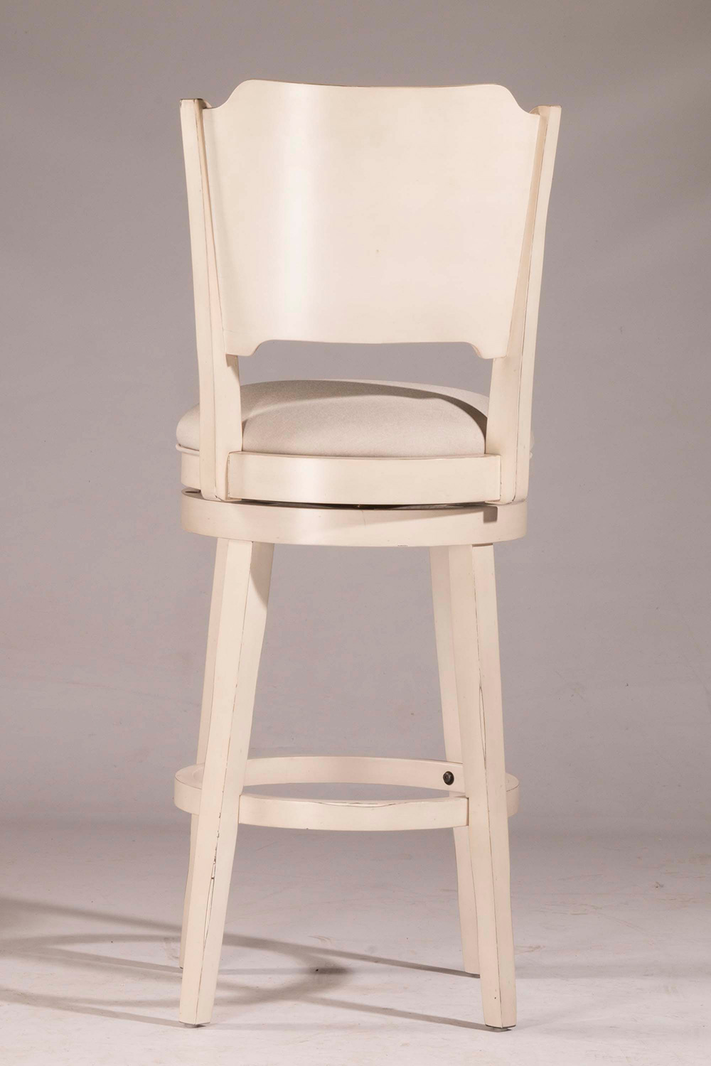 Hillsdale Clarion Swivel Counter Stool - Sea White - Fog Fabric