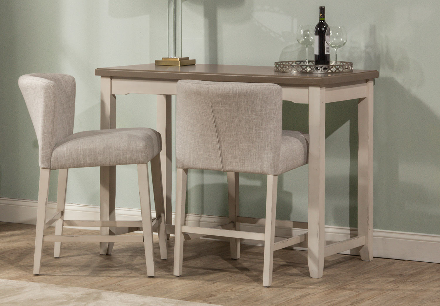 Hillsdale Clarion Counter Height Dining Set - Gray/White