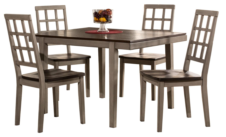 Hillsdale Garden Park 5-Piece Dining Set - Gray/Espresso