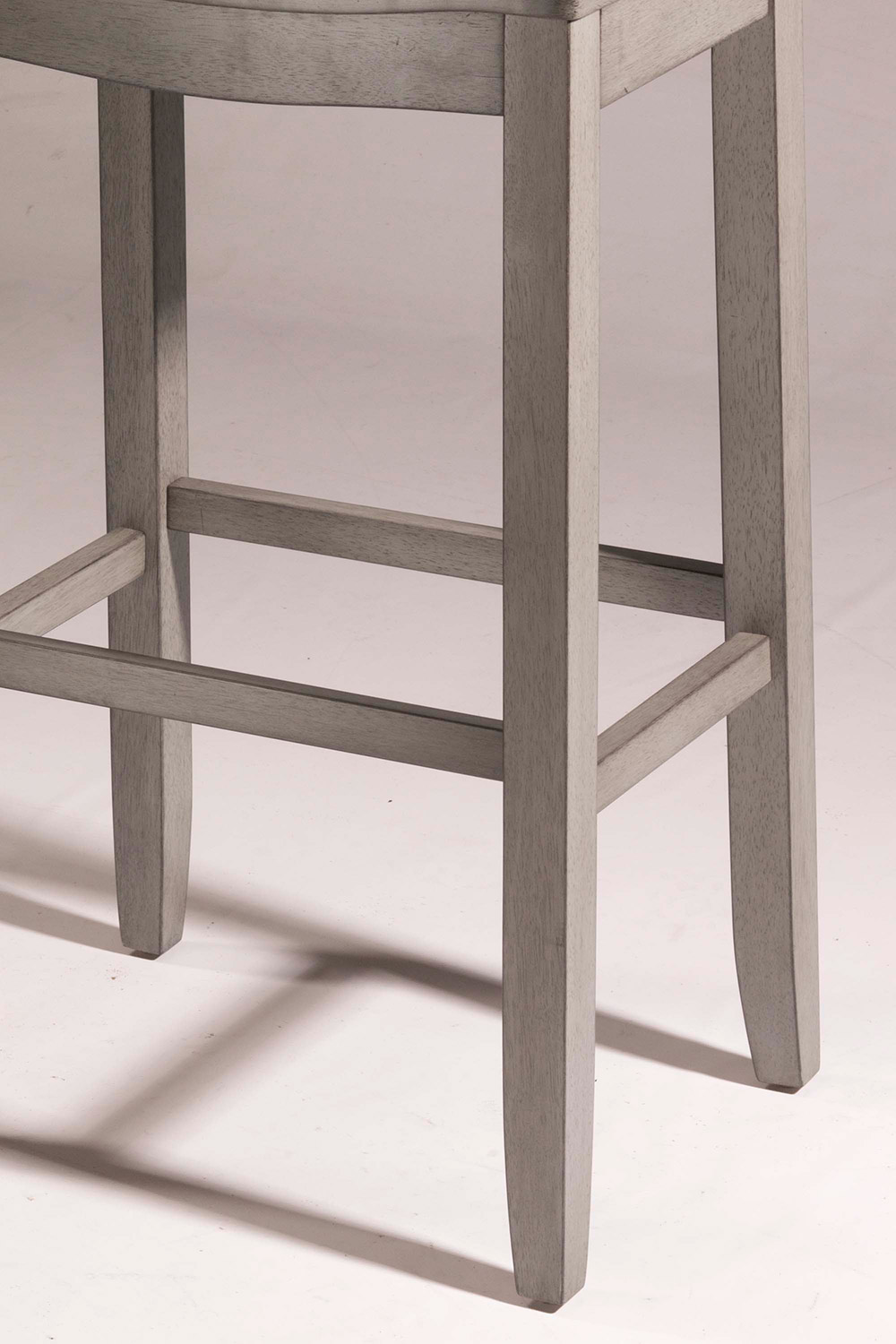 Hillsdale Fiddler Non-Swivel Backless Counter Stool - Aged Gray