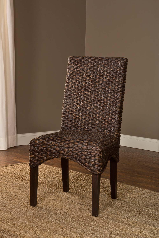 Hillsdale Water Hyacinth Chair   Chocolate Wash