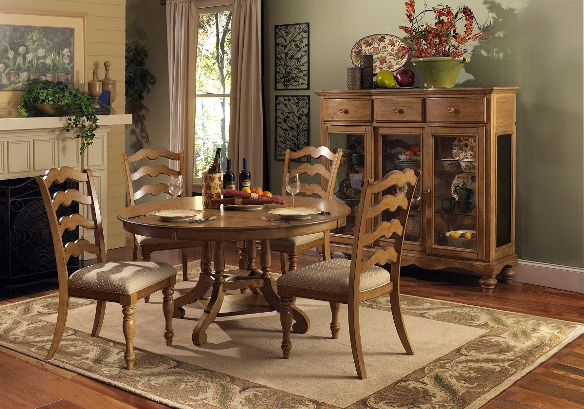 Hillsdale Hamptons 5 Piece Dining Set   Weathered Pine