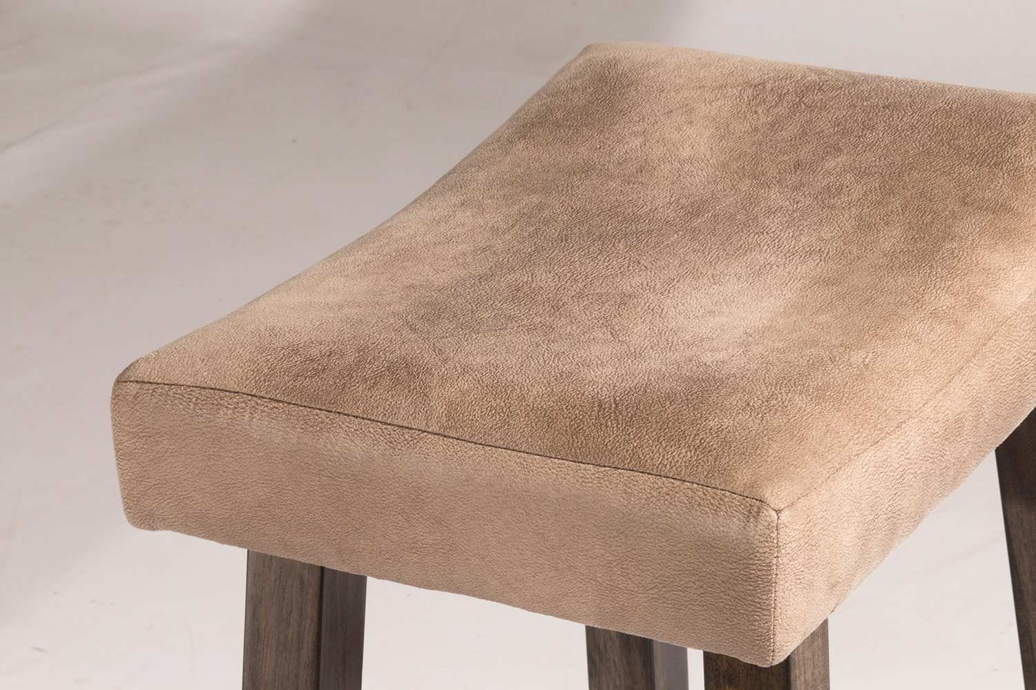 Hillsdale Saddle Non Swivel Backless Counter Stool