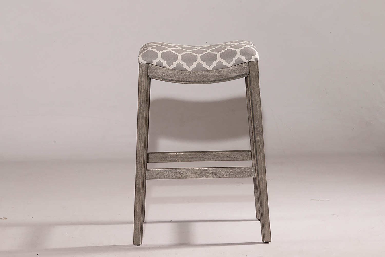 Hillsdale Sorella Non-Swivel Bar Stool - Gray - Trellis Gray Fabric