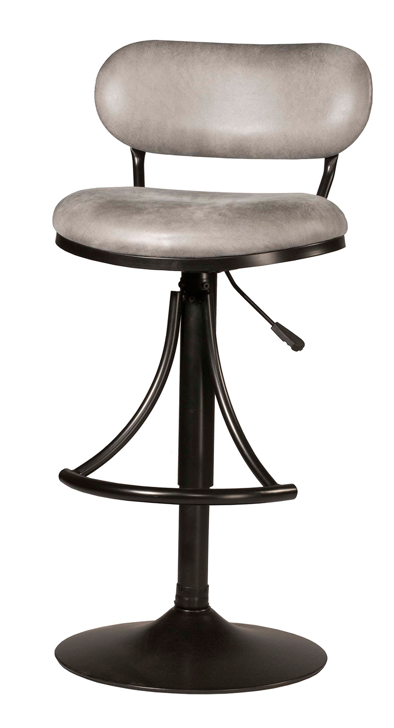 Hillsdale Athena Swivel Counter/Bar Stool - Black - Gray Fabric