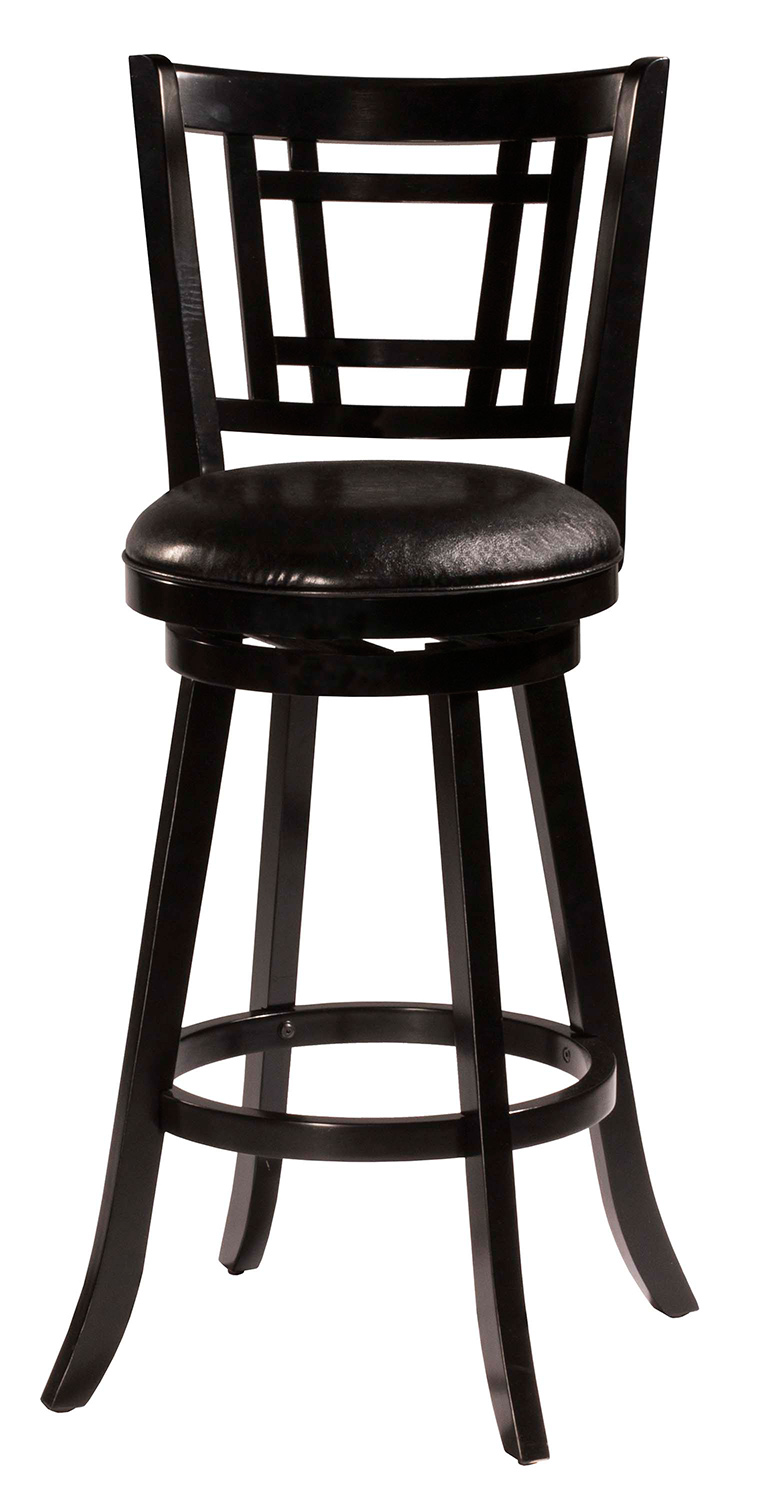 Hillsdale Fairfox Swivel Counter Stool Black Faux