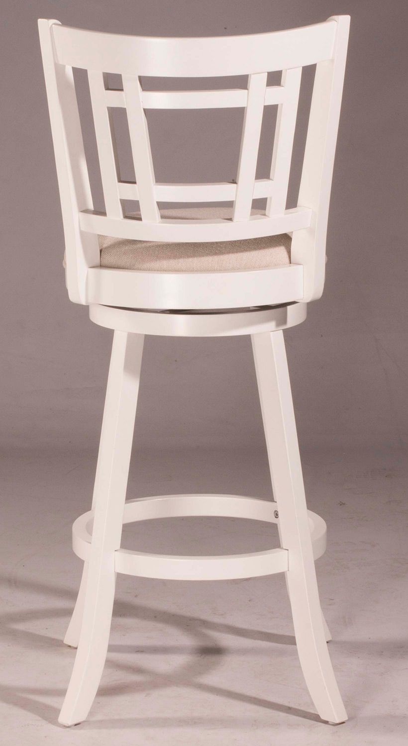 Hillsdale Fairfox Swivel Counter Stool White Ecru
