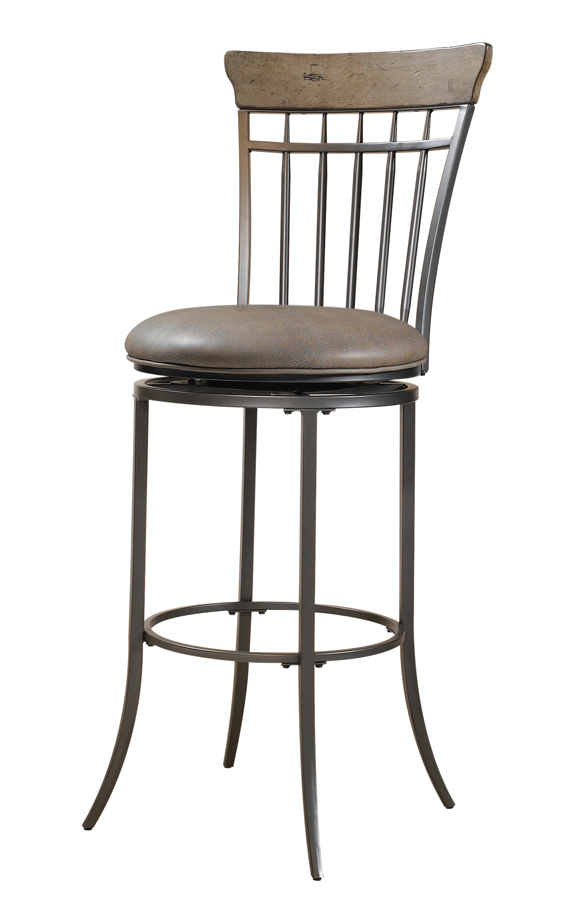 Hillsdale Charleston Vertical Spindle Back Swivel Counter Stool