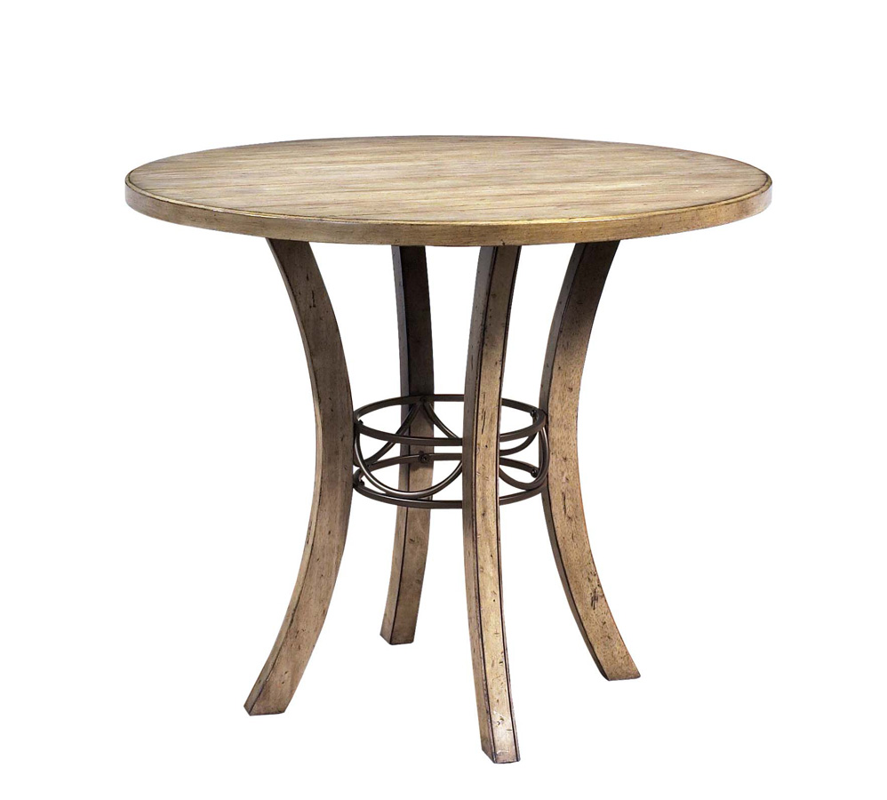 Hillsdale charleston round counter height dining table for Tall dining table