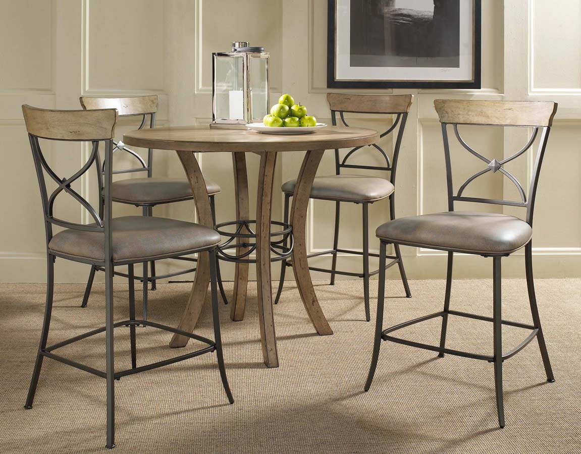 Hillsdale charleston round counter height dining table for Counter height dining table
