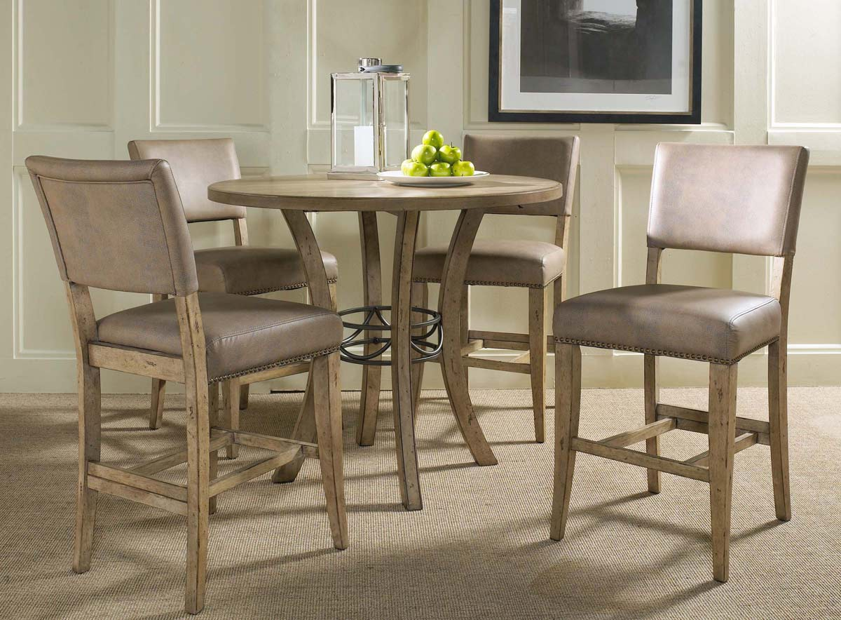 Ordinaire Hillsdale Charleston Round Counter Height Dining Set With Parson Stool