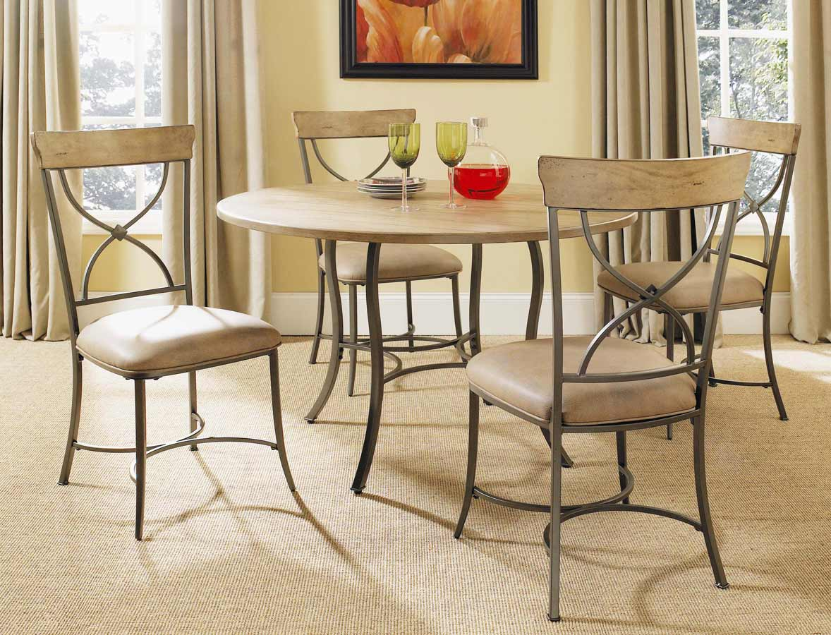 Hilale Charleston Round Dining Table With Metal Base