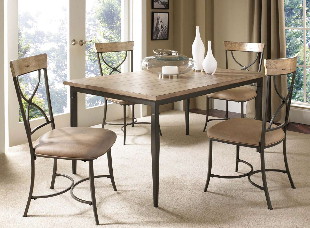 Hillsdale Charleston Rectangular Dining Set With X Back Dining Chair