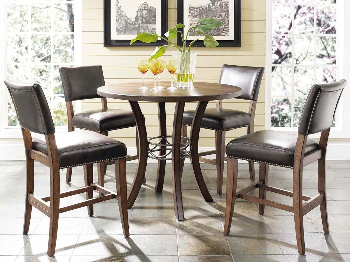 Hillsdale Cameron Counter Height Round Dining Set With Parson Stool