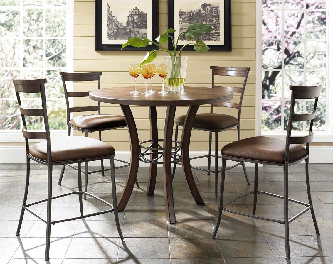 Hillsdale Cameron Counter Height Round Dining Set
