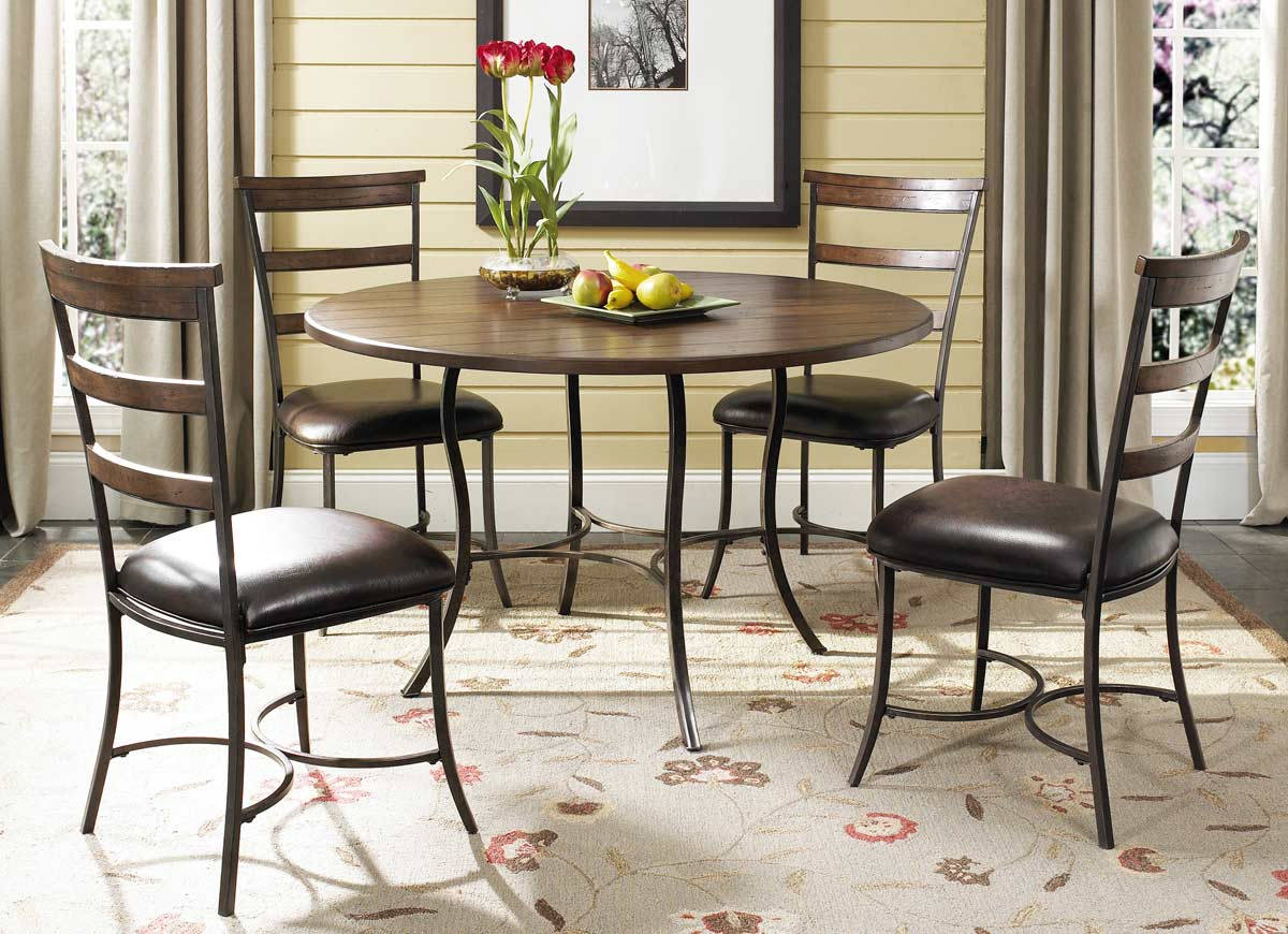 Hillsdale Cameron Round Dining Set With Ladder Back Dining Chair – Hillsdale Dining Chairs