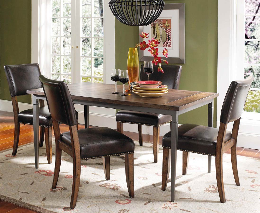 Hillsdale Cameron Rectangular Dining Set With Parson Dining Chair – Hillsdale Dining Chairs