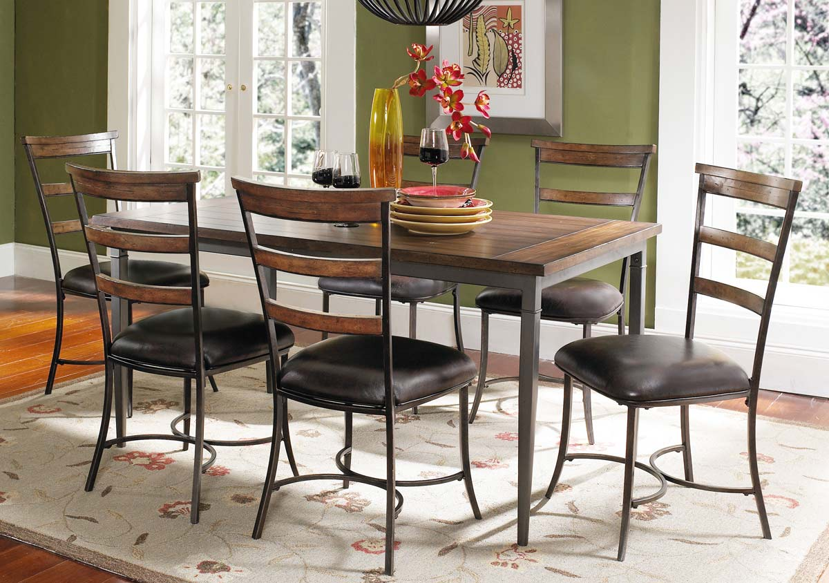 Hillsdale Cameron Rectangular Dining Set With Ladder Back