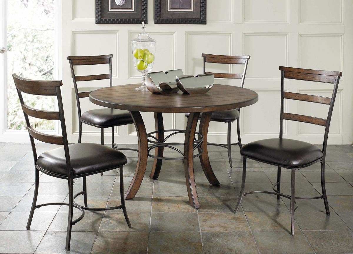Hillsdale Cameron Round Dining Set With Ladder Back Dining Chair
