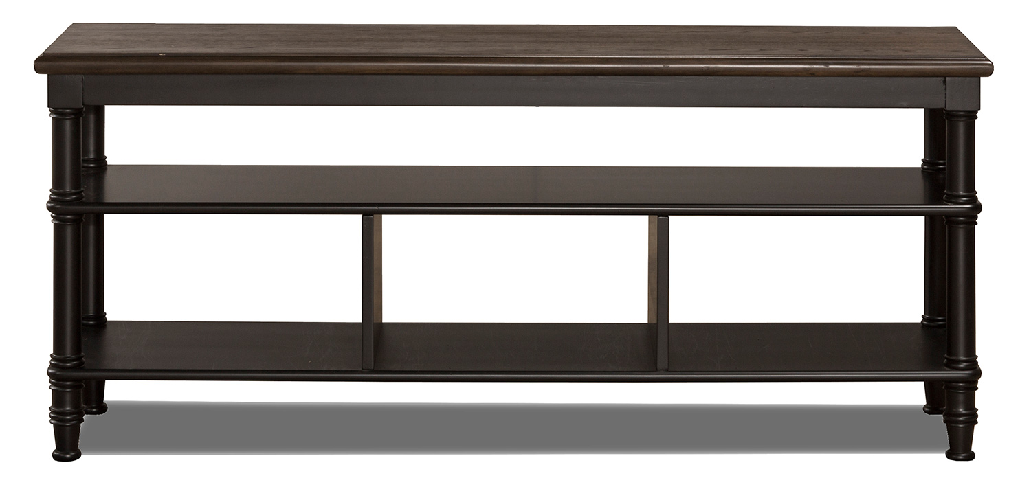 Hillsdale Seneca Storage Console - Waxed Black/Walnut