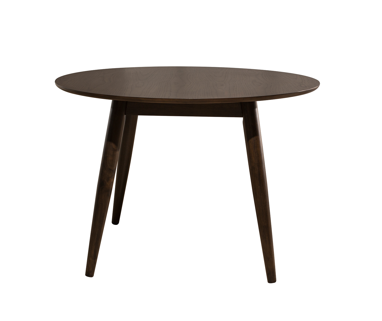 Hillsdale San Marino Midmod Wood Round Dining Table - Chestnut
