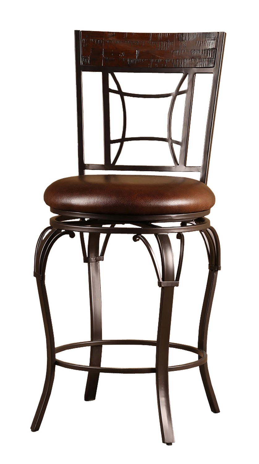 Hillsdale Granada Swivel Counter Stool - Dark Chestnut