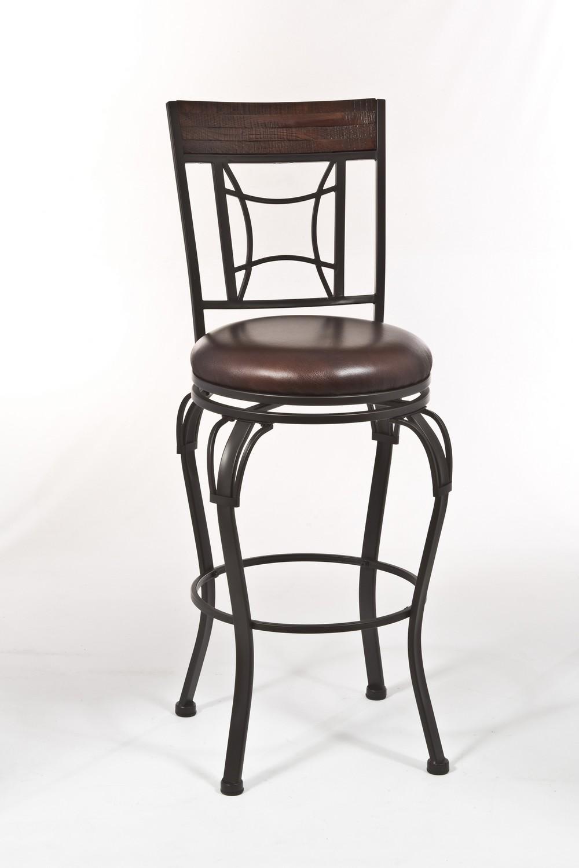 Hillsdale Granada Swivel Bar Stool - Dark Chestnut