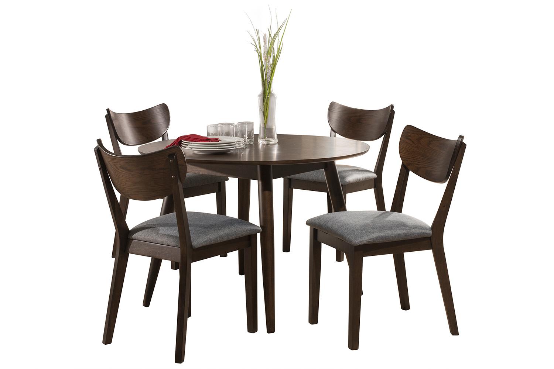 Hillsdale San Marino Midmod Wood 5-Piece Round Dining Set - Chestnut
