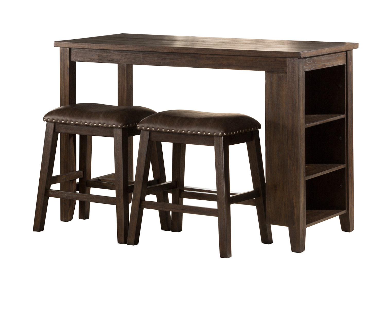 Hillsdale Spencer 3 Piece Counter Height Dining Set With Backless Counter  Height Stools   Dark Espresso