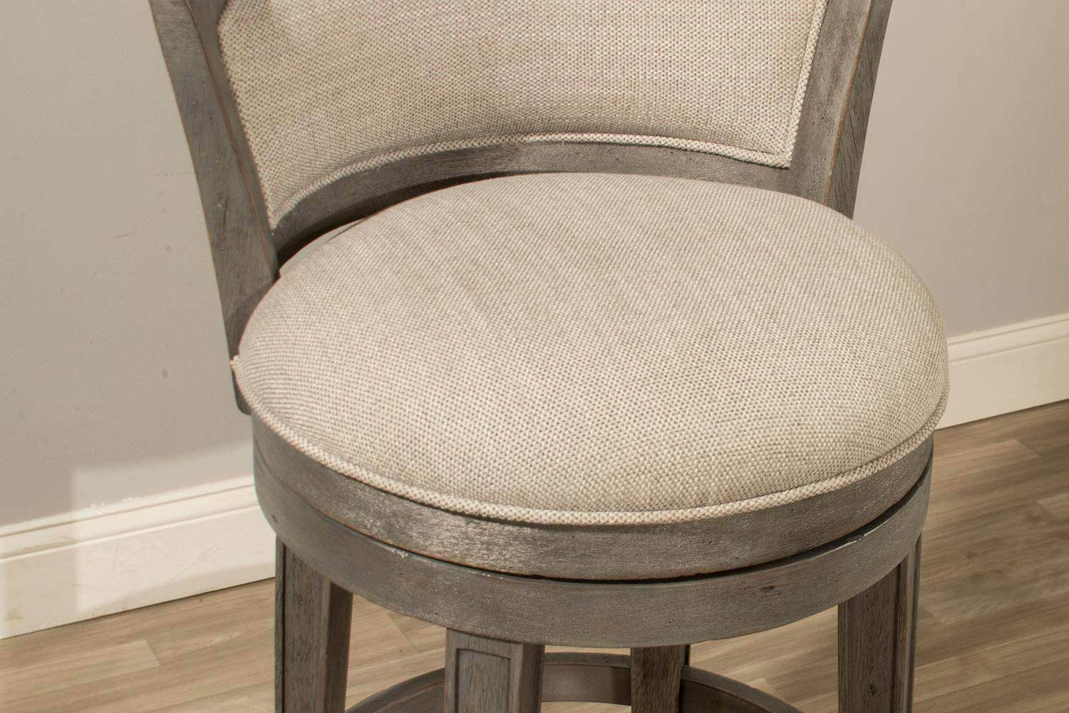 Hillsdale Monae Swivel Counter Stool Dark Gray Woven