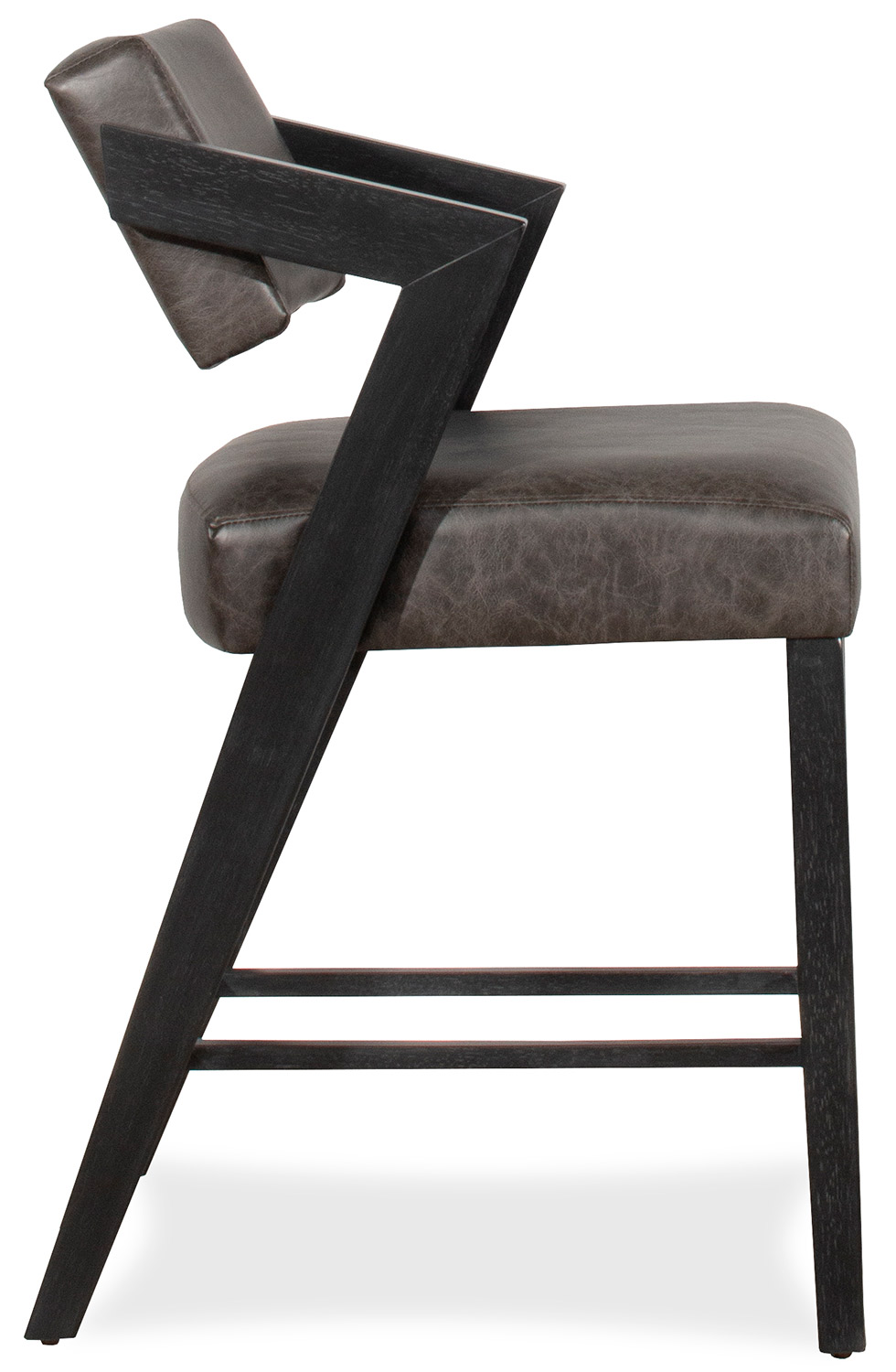 Hillsdale Snyder Stationary Counter Height Stool - Blackwash