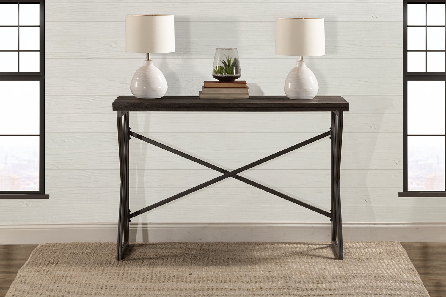 Hilale East Glenn Flip Top Counter Height Table Charcoal