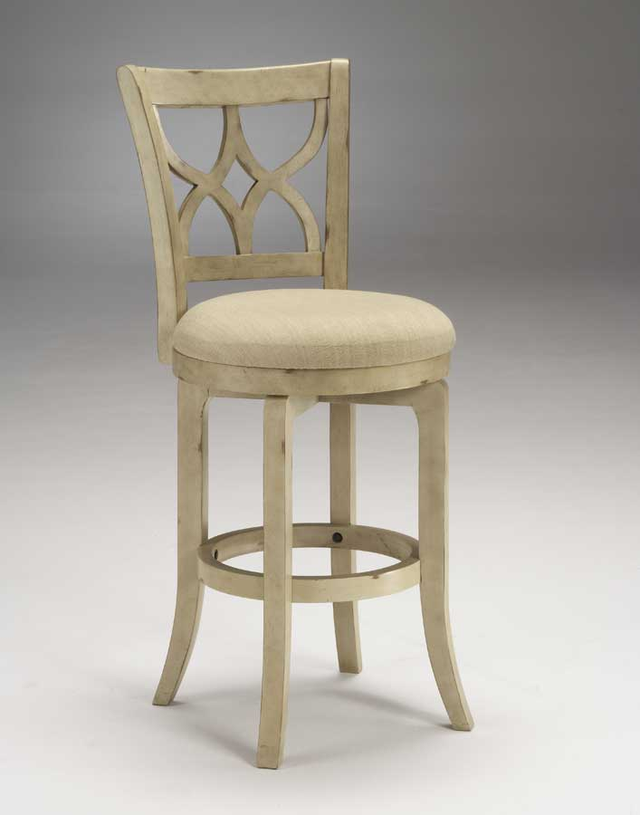 Hilale Sun Valley Swivel Wood Bar Stool Cream