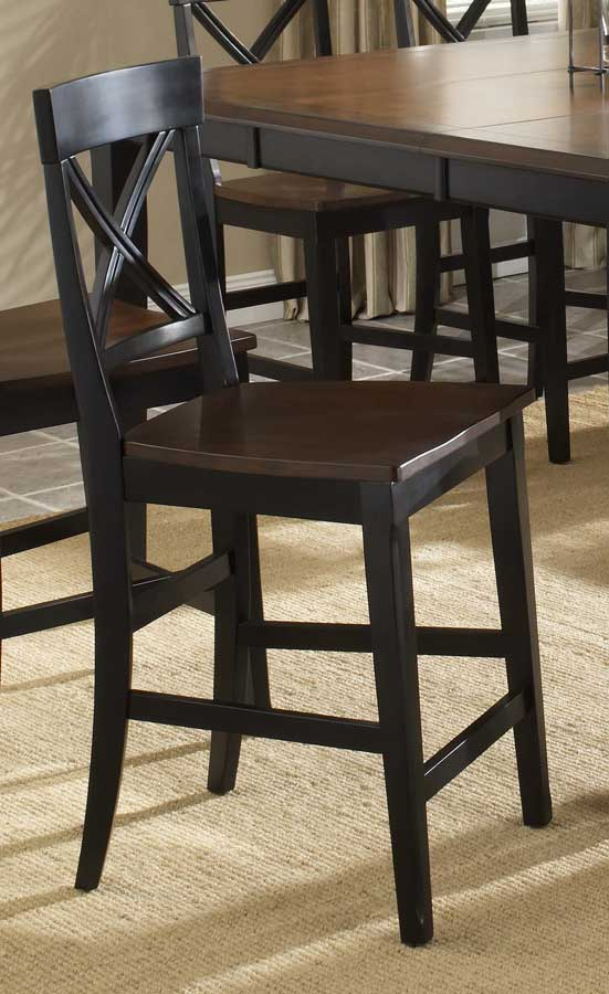 Hillsdale Englewood Counter Stool with Solid Seat