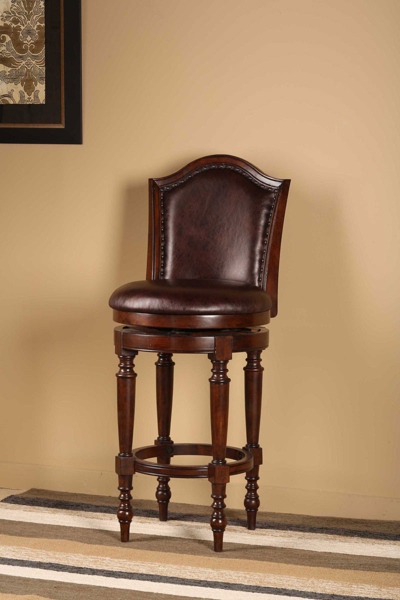 Hillsdale Barcelona Swivel Bar Stool - Brown Cherry