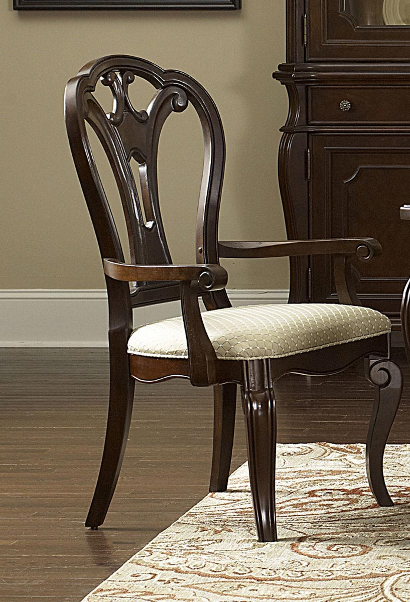 Hillsdale Grandover Arm Chair - Dark Cherry