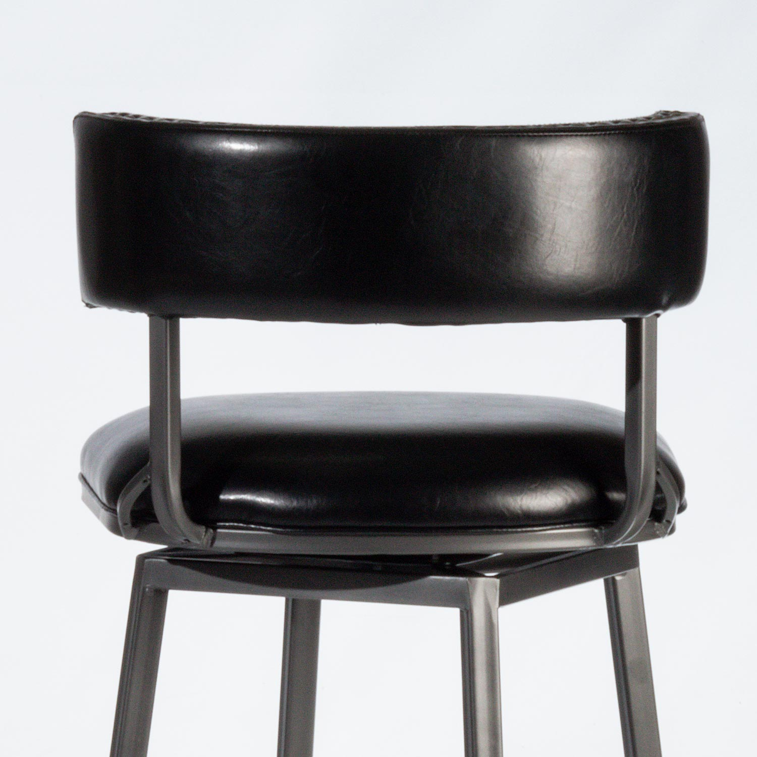 Hillsdale Kinsella Commercial Grade Swivel Counter Stool - Charcoal