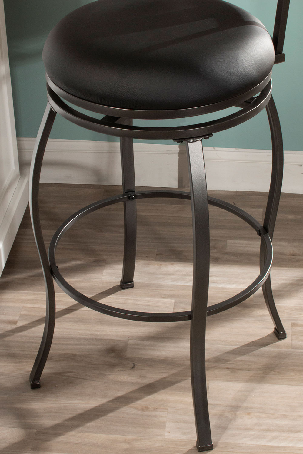 Hillsdale Stockport Swivel Counter Height Stool - Pewter