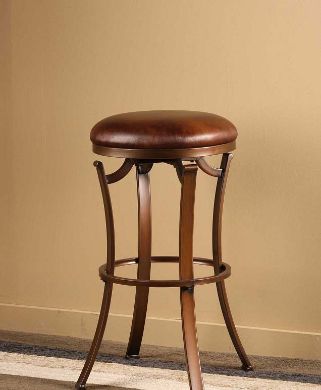 Hillsdale Kelford Backless Swivel Bar Stool - Antique Bronze