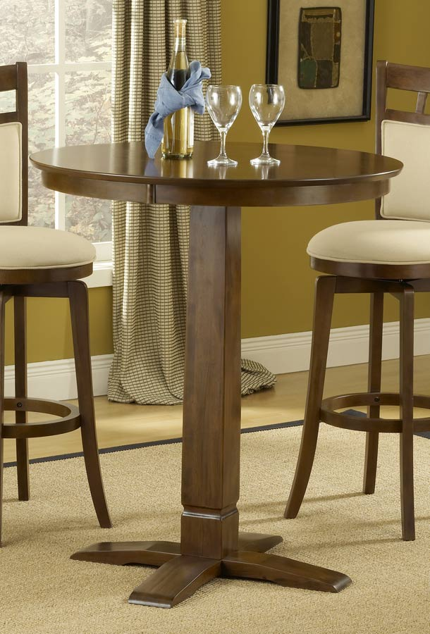 Hillsdale Dynamic Designs Pub Table-Brown Cherry