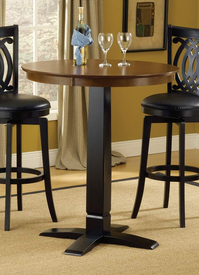 Hillsdale Dynamic Designs Pub Table-Brown-Black