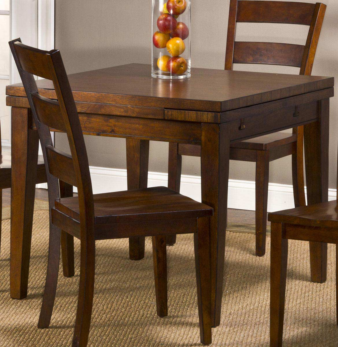 hillsdale harrods creek square gathering table with drop leaf