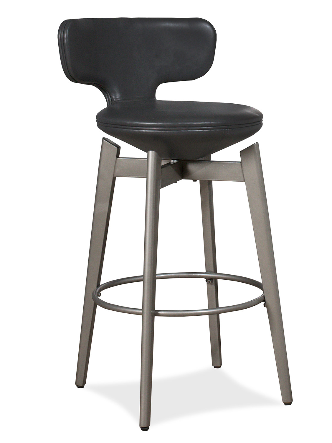 Hillsdale Genesis Swivel Bar Stool - Pewter