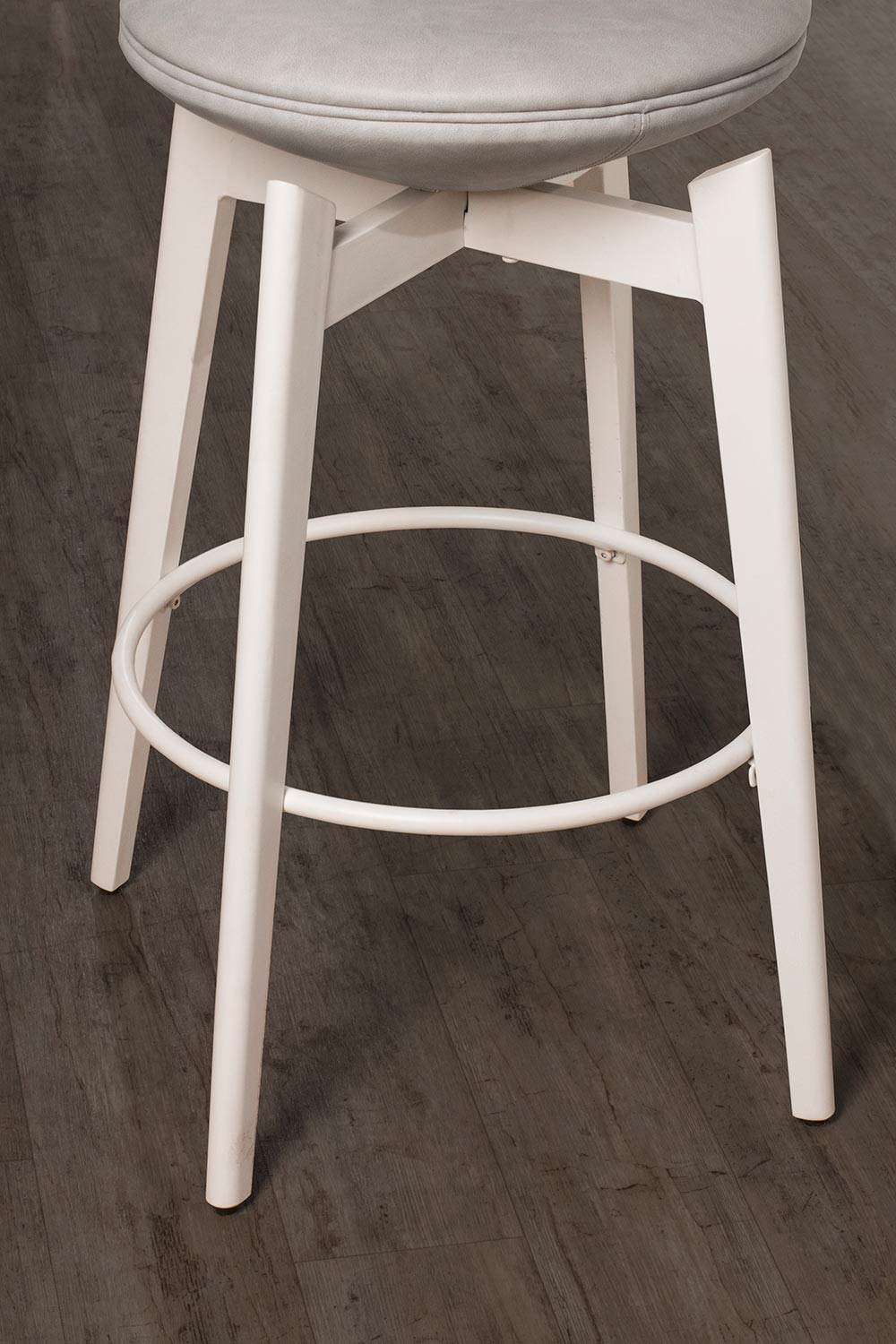 Hillsdale Genesis Backless Swivel Counter Stool - White