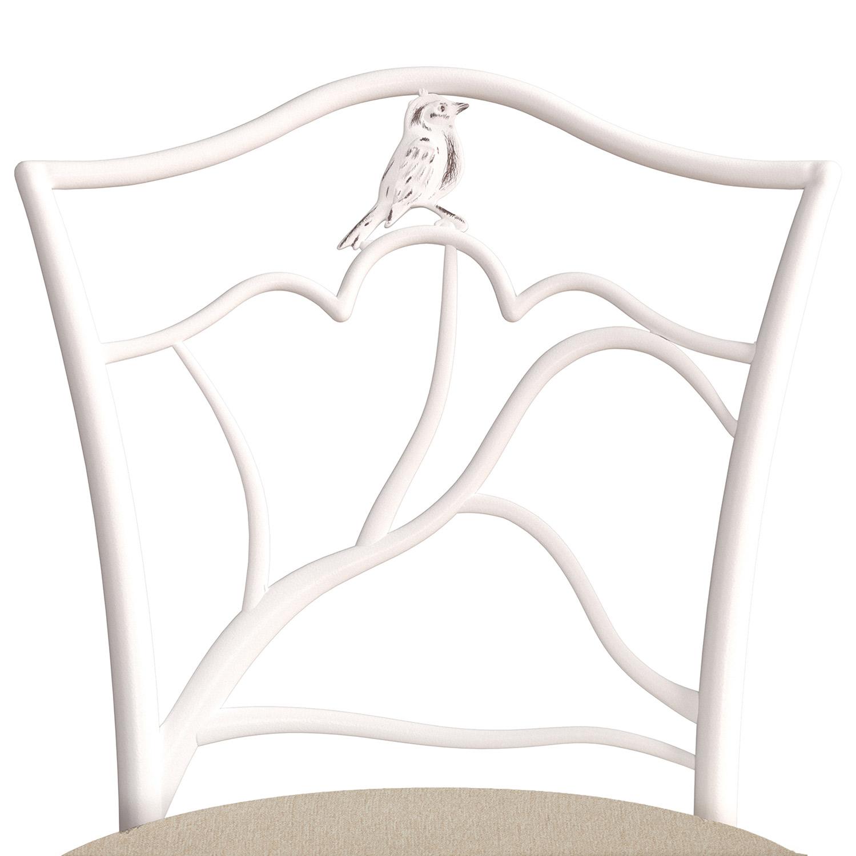 Hillsdale Avienne Swivel Counter Stool - White